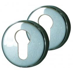 2 Rosaces de fonction CYL Zinc Chrome