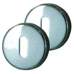 2 Rosaces de fonction Serrure Zinc Chrome
