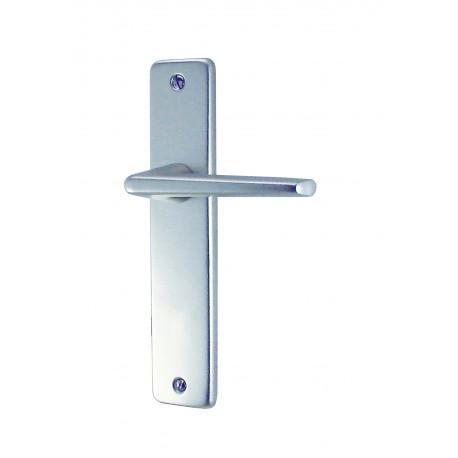 Ensemble/Plaque GETS Aluminium Argent Sans Trou 165 mm