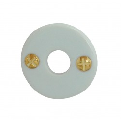 1 Rosace de Fonction BEQUILLE Porcelaine BLANC