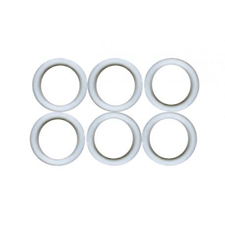 6 Rondelles Nylon 17 x 14.5mm