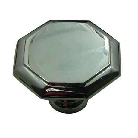 1 Bouton de Meuble OCTOGONAL Ø 50mm Laiton Chromé