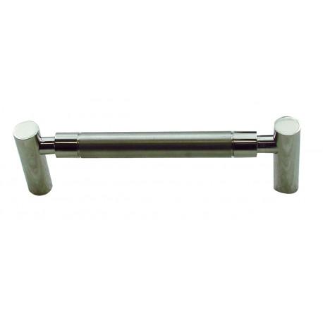 1 Poignée de Meuble PIPE LINE Inox Satiné L128mm