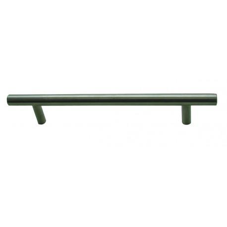1 Poignée de Meuble ROUND/SQUARE Inox Satiné L128mm