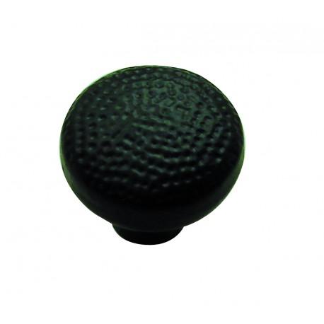 1 Bouton de Meuble MARTELE Ø 35mm Fonte Noir