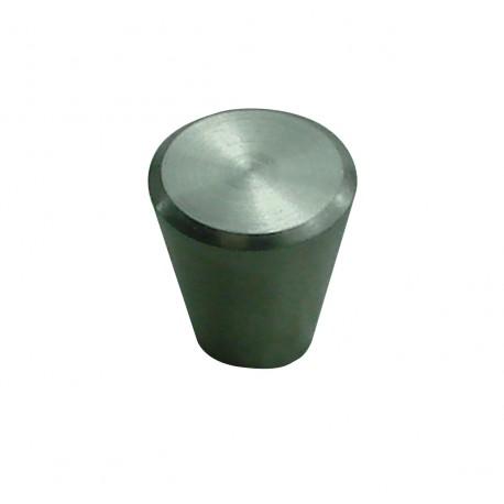 1 Bouton de Meuble CONIQUE Inox Satiné D19mm