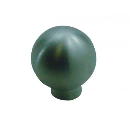 1 Bouton de Meuble BOULE Inox Satiné D19mm