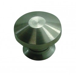 1 Bouton de Meuble BIZEAUTE Inox Satiné D25mm