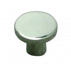 1 Bouton de Meuble ROND Inox Brillant D25mm