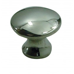 1 Bouton de Meuble BOMBE Inox Brillant D25mm