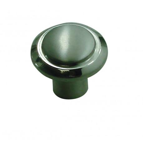 1 Bouton de Meuble LISERET Inox Satiné & Brillant D25mm