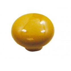 1 Bouton de Meuble OVALIE / VINTAGE Porcelaine JAUNE D'OR