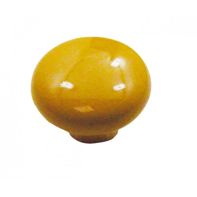 1 bouton de meuble ovalie vintage porcelaine jaune d 39 or dt2000 poign e de porte et. Black Bedroom Furniture Sets. Home Design Ideas