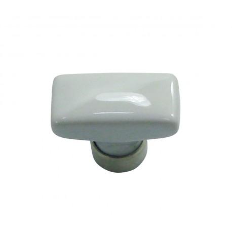 1 Bouton de Meuble RECTANGLE Porcelaine BLANC 34x17