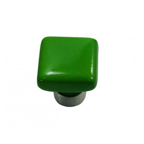 1 Bouton de Meuble CARRE Porcelaine VERT POMME 30x30