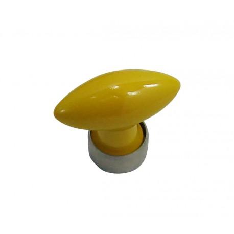 1 Bouton de Meuble OLIVE Porcelaine JAUNE D'OR Ø 40mm