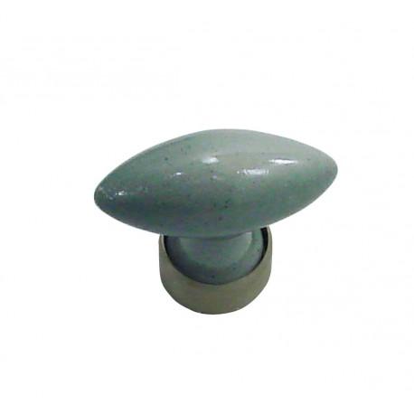 1 Bouton de Meuble OLIVE Porcelaine CIMENT Ø 40mm