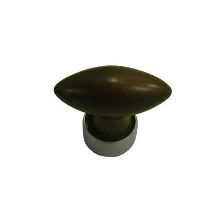1 Bouton de Meuble OLIVE Porcelaine CHOCOLAT L 40 mm