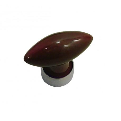 1 Bouton de Meuble OLIVE Porcelaine PRUNE L 40mm