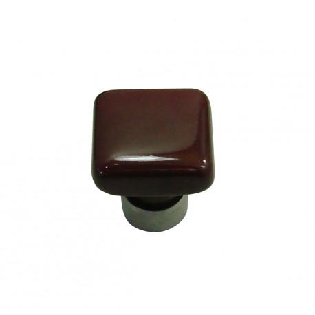 1 Bouton de Meuble CARRE Porcelaine PRUNE 30x30