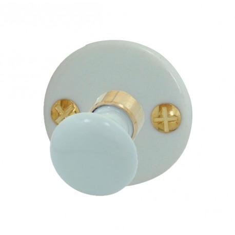 Bouton/Rosace ROND Porcelaine BLANC Conda
