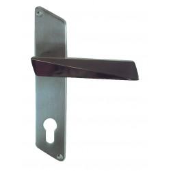 Ensemble/Plaque PRISME Inox Mat Cylindre