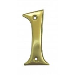 Chiffre 1 Laiton Poli H.67mm
