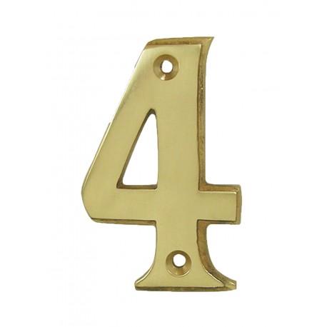 Chiffre 4 Laiton Poli H.67mm