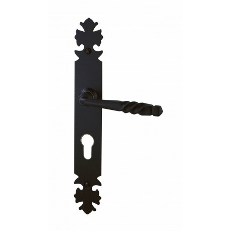 Ensemble/Plaque BREST Fer Noir Cylindre 195