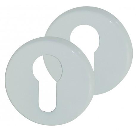 2 Rosaces de Fonction Aluminium Epoxy BLANC Cylindre