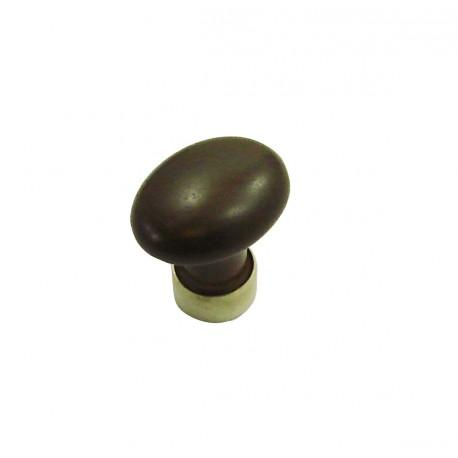 1 Bouton de Meuble OVALE Porcelaine CHOCOLAT Ø 35mm