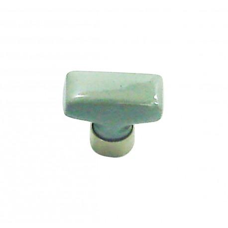 1 Bouton de Meuble RECTANGLE Porcelaine CIMENT 34x17