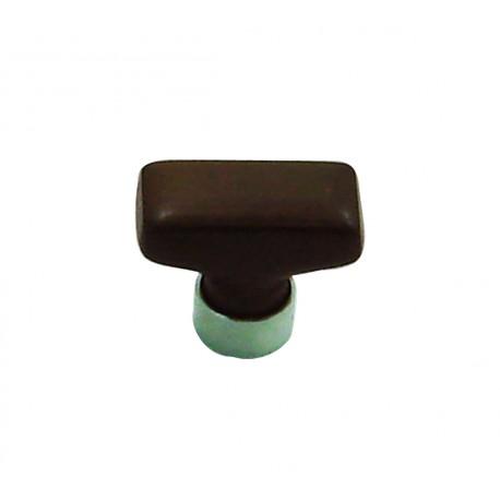 1 Bouton de Meuble RECTANGLE Porcelaine CHOCOLAT 34x17