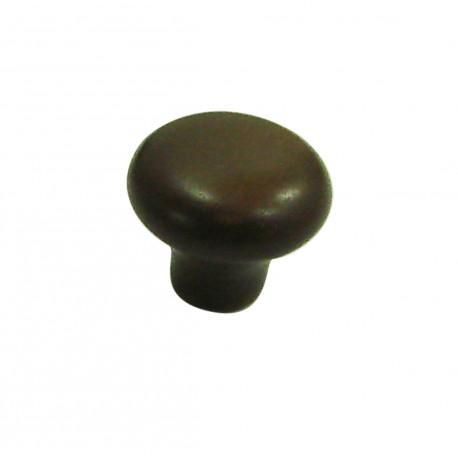 1 Bouton de Meuble OVALIE / VINTAGE Porcelaine CHOCOLAT