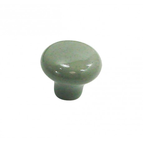 1 Bouton de Meuble OVALIE / VINTAGE Porcelaine CIMENT