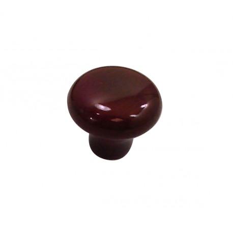 1 Bouton de Meuble OVALIE / VINTAGE Porcelaine PRUNE