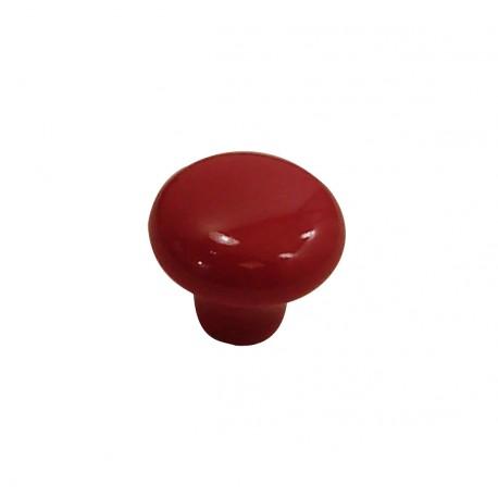 1 Bouton de Meuble OVALIE / VINTAGE Porcelaine ROUGE