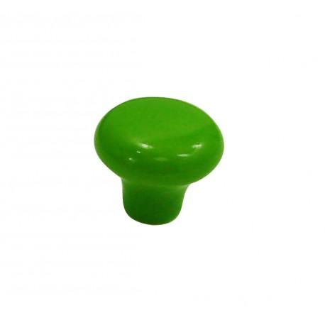 1 Bouton de Meuble OVALIE / VINTAGE Porcelaine VERT POMME
