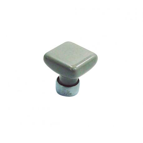1 Bouton de Meuble CARRE Porcelaine CIMENT 30x30