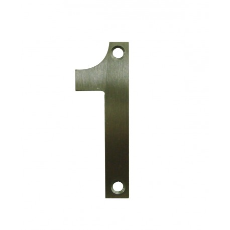 Chiffre 1 Inox Mat Satiné H.75mm