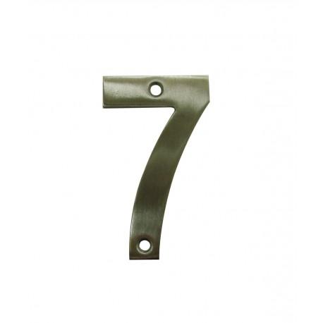 Chiffre 7 Inox Mat Satiné H.75mm