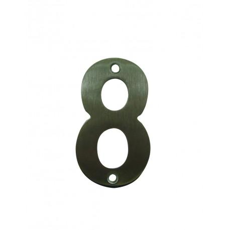 Chiffre 8 Inox Mat Satiné H.75mm