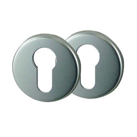 2 Rosaces de Fonction Aluminium Argent Cylindre