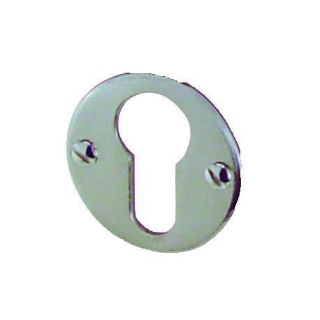 1 Rosace de Fonction VINTAGE  Nickelé Brillant Cylindre