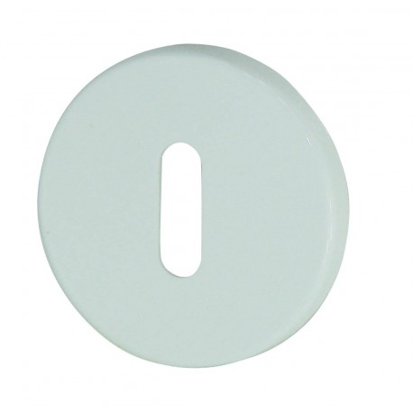 Rosaces Squash Plastique Blanc Trou Serrure Dt2000 Poignee De