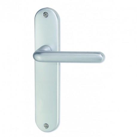 Ensemble/Plaque TIGNES Aluminium Argent Sans Trou 165 mm