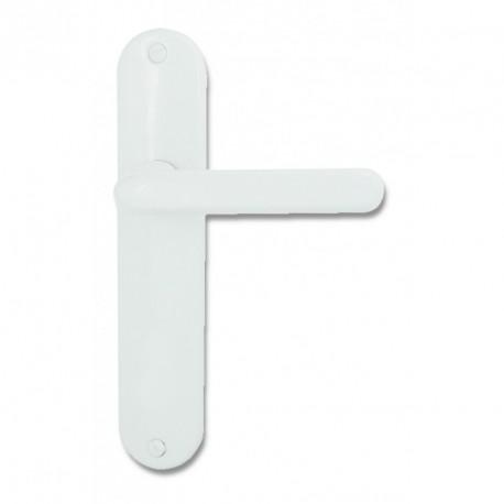Ensemble/Plaque TIGNES Aluminium BLANC Sans Trou 165