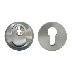 2 Rosaces de Fonction Inox Mat Cylindre