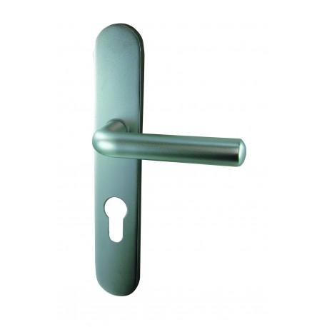 Ensemble/Plaque SAUGE Aluminium Argent Cylindre